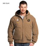 CSJ41WB - EMB - WASHED DUCK CLOTH INSULATED HOODED WORK JACKET